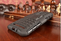 Противоударный усиленный ударопрочный фирменный чехол-бампер-пенал для ASUS Zenfone 2 ZE550ML / ZE551ML 5.5 черный