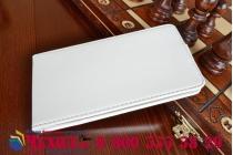 """Фирменный оригинальный вертикальный откидной чехол-флип для Asus Zenfone 2 5.5"""" ZE551ML белый кожаный """"Prestige"""" Италия"""