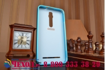 """Фирменная металлическая задняя панель-крышка-накладка из тончайшего облегченного авиационного алюминия для Asus Zenfone 2 5.5"""" ZE550/ZE551ML синяя"""