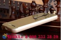 """Фирменная металлическая задняя панель-крышка-накладка из тончайшего облегченного авиационного алюминия для Asus Zenfone 2 5.5"""" ZE550/ZE551ML золотая"""