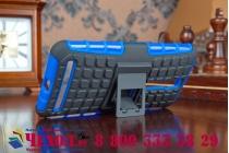 """Противоударный усиленный ударопрочный фирменный чехол-бампер-пенал для Asus Zenfone 2 5.5"""" ZE550/ZE551ML синий"""