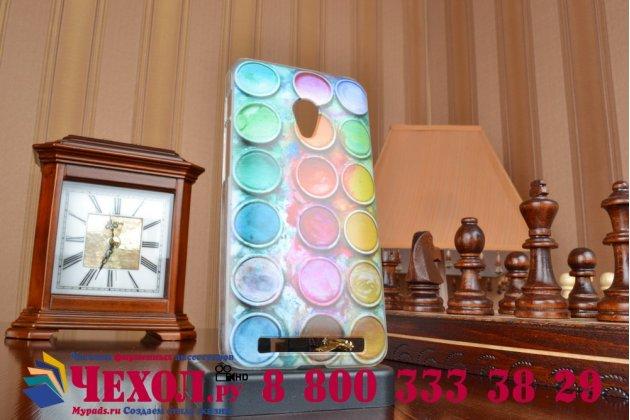 """Фирменная необычная уникальная пластиковая задняя панель-чехол-накладка для ASUS Zenfone 4 4.5 A450CG """"тематика краски"""""""