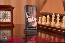 """Фирменная необычная уникальная полимерная мягкая задняя панель-чехол-накладка для Asus Zenfone 2 5.5"""" ZE550/ZE551ML """"тематика Super Mario"""""""
