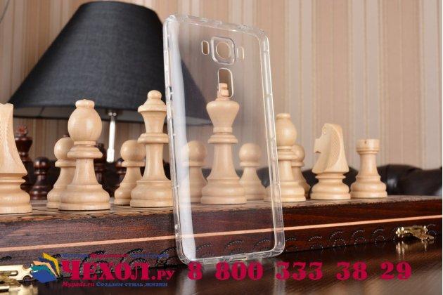 """Фирменная из качественного силикона задняя панель-чехол-накладка для ASUS ZenFone 3 Deluxe ZS550KL 5.5"""" прозрачная"""