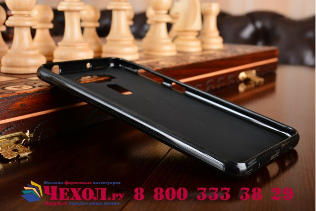 """Фирменная ультра-тонкая силиконовая задняя панель-чехол-накладка для ASUS ZenFone 3 Deluxe ZS550KL 5.5"""" черная"""