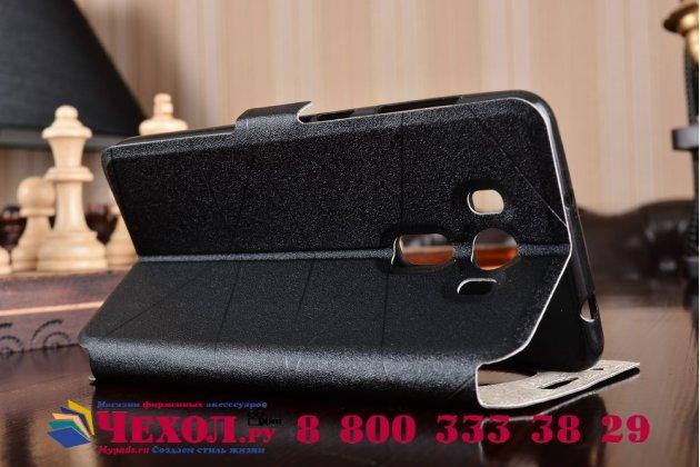 """Фирменный оригинальный чехол-книжка для ASUS ZenFone 3 Deluxe ZS550KL 5.5""""  черный водоотталкивающий с окошком для входящих вызовов"""