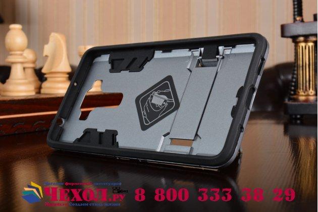 """Противоударный усиленный ударопрочный фирменный чехол-бампер-пенал для ASUS ZenFone 3 Deluxe ZS550KL 5.5"""" серый"""