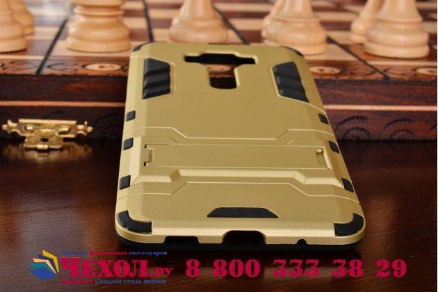 """Противоударный усиленный ударопрочный фирменный чехол-бампер-пенал для ASUS ZenFone 3 Deluxe ZS550KL 5.5"""" золотой"""