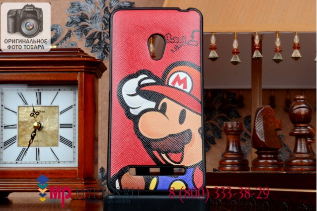"""Фирменная необычная уникальная полимерная мягкая задняя панель-чехол-накладка для Asus Zenfone 5 A500CG/A501CG """"тематика Super Mario"""""""