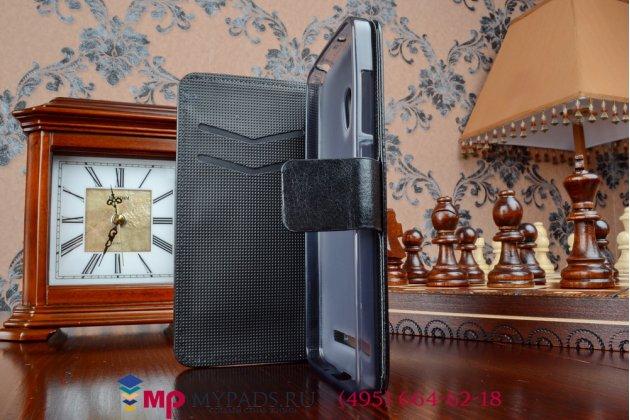 Фирменный чехол-книжка из качественной импортной кожи с подставкой для Asus Zenfone 5 Lite A502CG черный