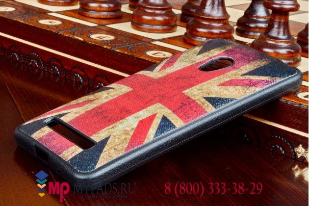 """Фирменная необычная уникальная полимерная мягкая задняя панель-чехол-накладка для ASUS Zenfone 5 A500/A501CG """"тематика Британский флаг"""""""