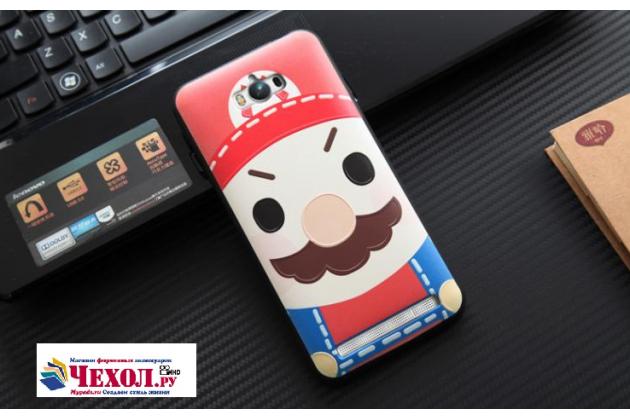 Фирменная уникальная задняя панель-крышка-накладка из тончайшего силикона для Asus Zenfone Max ZC550KL/ 2 MAX 5.5 с объёмным 3D рисунком тематика Марио