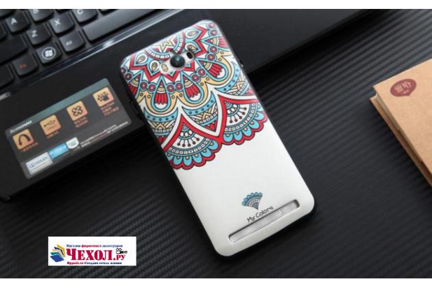 Фирменная уникальная задняя панель-крышка-накладка из тончайшего силикона для Asus Zenfone Max ZC550KL/ 2 MAX 5.5 с объёмным 3D рисунком тематика Стильные узоры