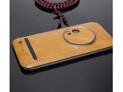 Нашивка из натуральной импортной кожи на заднюю крышку телефона для ASUS ZenFone Zoom ZX551ML / ZX550ML  светл..