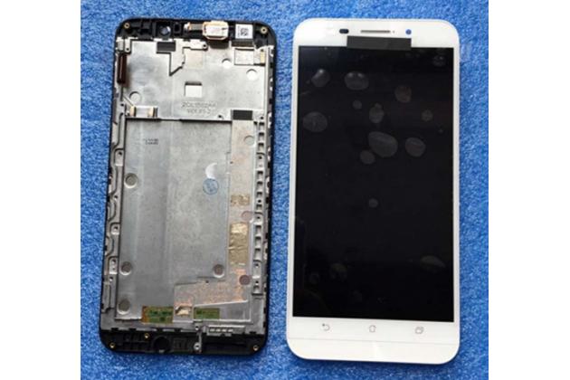 Фирменный LCD-ЖК-сенсорный дисплей-экран-стекло с тачскрином на телефон Asus Zenfone Max ZC550KL/ 2 MAX 5.5 белый + гарантия
