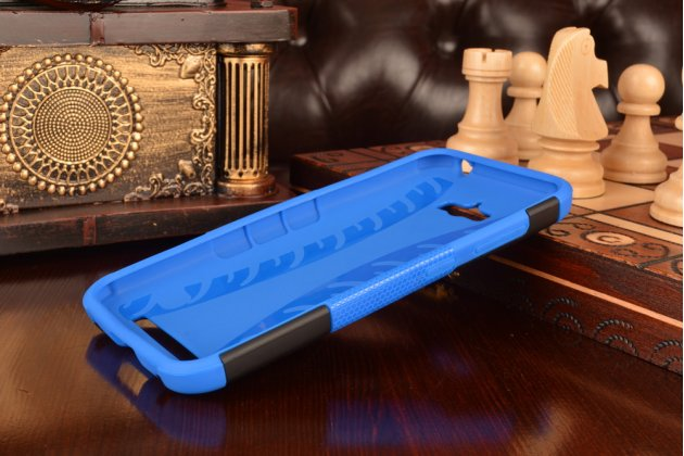 Противоударный усиленный ударопрочный фирменный чехол-бампер-пенал для Asus Zenfone Max ZC550KL 5.5  синий