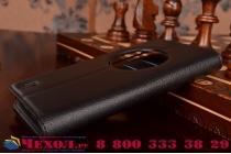 Фирменный чехол-книжка из качественной импортной кожи с подставкой застёжкой и визитницей для ASUS ZenFone Zoom ZX551ML / ZX550ML черный