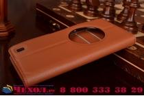Фирменный чехол-книжка из качественной импортной кожи с подставкой застёжкой и визитницей для ASUS ZenFone Zoom ZX551ML / ZX550ML коричневый