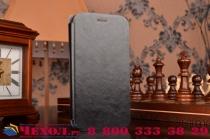 Фирменный чехол-книжка из качественной водоотталкивающей импортной кожи на жёсткой металлической основе для ASUS ZenFone Zoom ZX551ML / ZX550ML  черный