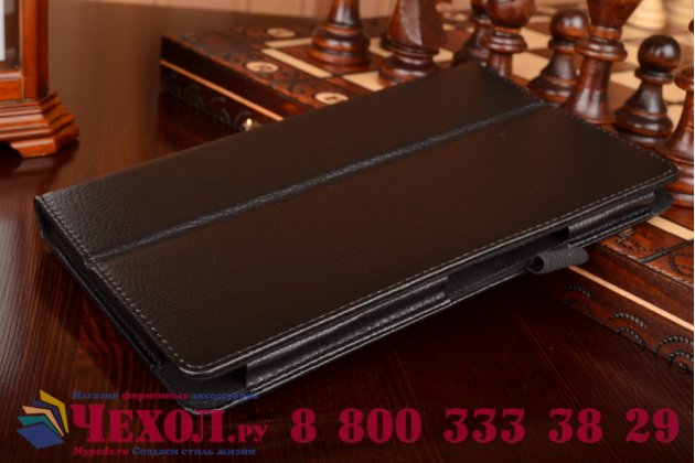 Чехол для Asus ZenPad 8 Z380C/Z380KL черный кожаный