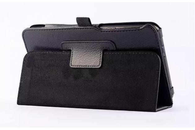 Фирменный чехол-обложка с подставкой для ASUS MeMO Pad 7 ME70C/ME70CX черный кожаный