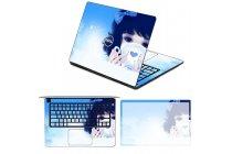 Фирменная оригинальная защитная пленка-наклейка с 3d рисунком на твёрдой основе, которая не увеличивает планшет в размерах для ASUS Transformer 3 T305CA (GW014T) 12.6 тематика Девочка