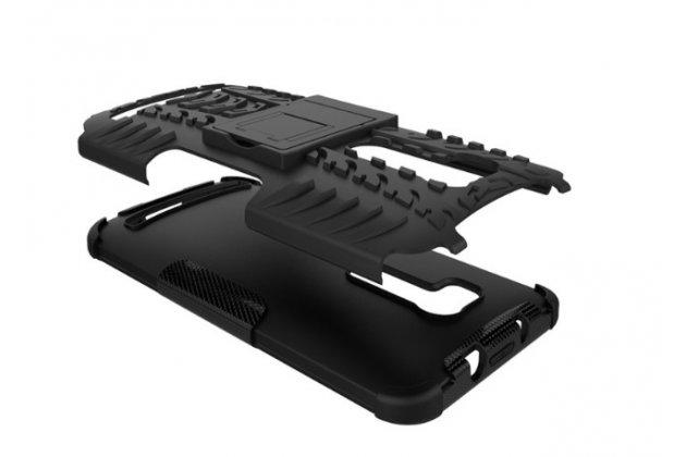 Противоударный усиленный ударопрочный фирменный чехол-бампер-пенал для ASUS ZenFone Go ZB552KL черный