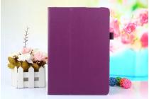 Фирменный чехол-обложка с подставкой для ASUS ZenPad 3s 10 / ASUS ZenPad 10 Z500M 9.7 фиолетовый кожаный