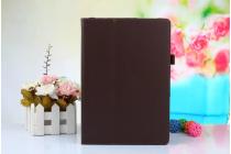 Фирменный чехол-обложка с подставкой для ASUS ZenPad 3s 10 / ASUS ZenPad 10 Z500M 9.7 коричневый кожаный