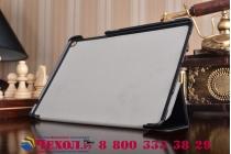 """Фирменный умный чехол-книжка самый тонкий в мире для ASUS ZenPad 3s 10 / ASUS ZenPad 10 Z500M  9.7"""" """"Il Sottile"""" черный кожаный"""