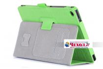 """Фирменный чехол бизнес класса для ASUS ZenPad Z8 Z581KL 7.9"""" с визитницей и держателем для руки зеленый натуральная кожа """"Prestige"""" Италия"""