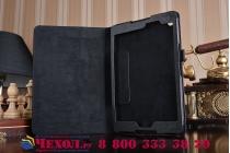 Фирменный чехол-обложка с подставкой для ASUS ZenPad Z8 Z581KL 7.9 черный кожаный