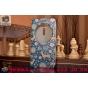 Фирменный чехол-книжка с безумно красивым расписным рисунком Оленя в цветах на ASUS Zenfone 2 Laser ZE601KL 6...