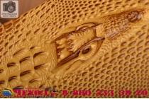 """Фирменный роскошный эксклюзивный чехол с объёмным 3D изображением кожи крокодила коричневый для ASUS Zenfone 2 Laser ZE601KL 6.0""""  . Только в нашем магазине. Количество ограничено"""