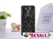 Фирменная необычная из легчайшего и тончайшего пластика задняя панель-чехол-накладка для ASUS Zenfone 2 Lazer ..