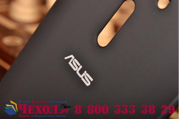"""Ультра тонкий лёгкий чехол-обложка с окном для входящих вызовов для ASUS Zenfone 2 Lazer ZE550KL 5.5""""  черный"""
