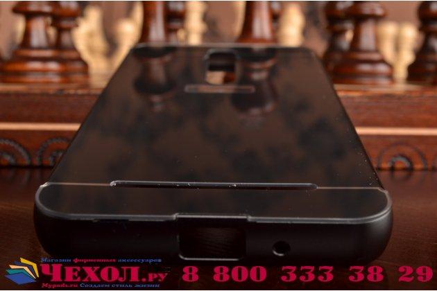 """Фирменная металлическая задняя панель-крышка-накладка из тончайшего облегченного авиационного алюминия для ASUS Zenfone 2 Lazer ZE550KL 5.5""""  черная"""