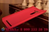 """Фирменная задняя панель-крышка-накладка из тончайшего и прочного пластика для ASUS Zenfone 2 Lazer ZE550KL 5.5""""  красная"""