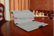 """Фирменный чехол для Asus Memo Pad 10 ME102A model K00F черный натуральная кожа """"Deluxe"""" Италия"""