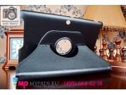 Чехол для Asus Memo Pad 10 ME102A model K00F поворотный роторный оборотный черный кожаный..