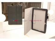 Фирменный чехол-обложка для Asus Memo Pad 10 ME102A model K00F с визитницей и держателем для руки черный натур..