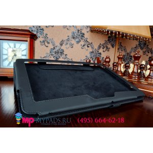Фирменный чехол обложка для Asus Memo Pad 10 ME103K черный кожаный