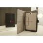 Фирменный чехол-книжка для Asus Memo Pad 8 ME180A model K00L черный натуральная кожа
