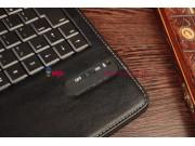 Фирменный оригинальный чехол со съёмной Bluetooth-клавиатурой для Asus Memo Pad FHD 10 ME302KL черный кожаный ..