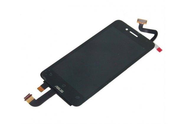 Фирменный LCD-ЖК-сенсорный дисплей-экран-стекло с тачскрином на телефон Asus Padfone Mini 4.3 черный + гарантия