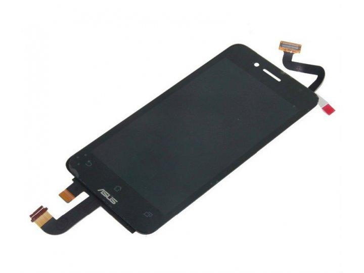 Фирменный LCD-ЖК-сенсорный дисплей-экран-стекло с тачскрином на телефон Asus Padfone Mini 4.3 черный + гаранти..