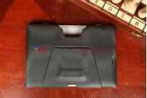 Фирменный чехол обложка для планшета док-станции Asus Padfone E черный кожаный