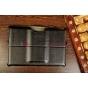 Фирменный чехол для Asus Padfone Infinity New A86 T004 с мульти-подставкой и держателем для руки черный кожаны..
