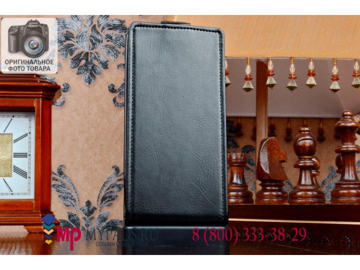 Фирменный оригинальный вертикальный откидной чехол-флип для Asus Pegasus X002/X003 черный кожаный