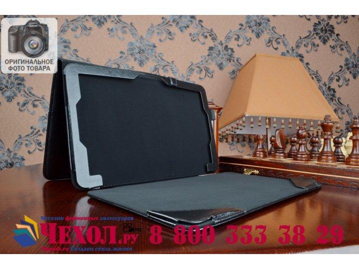 Фирменный чехол-футляр для ASUS T300CHI-FH011H с отделением под клавиатуру /док станцию черный кожаный..